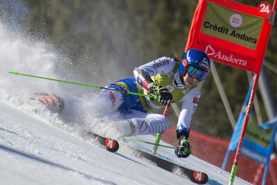 Petra Vlhová na obrovskom slalome  Svetového pohára v zimnom stredisku Soldeu