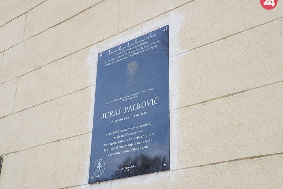 J. Palkoviča pripomína v Lučenci nová pamätná tabuľa