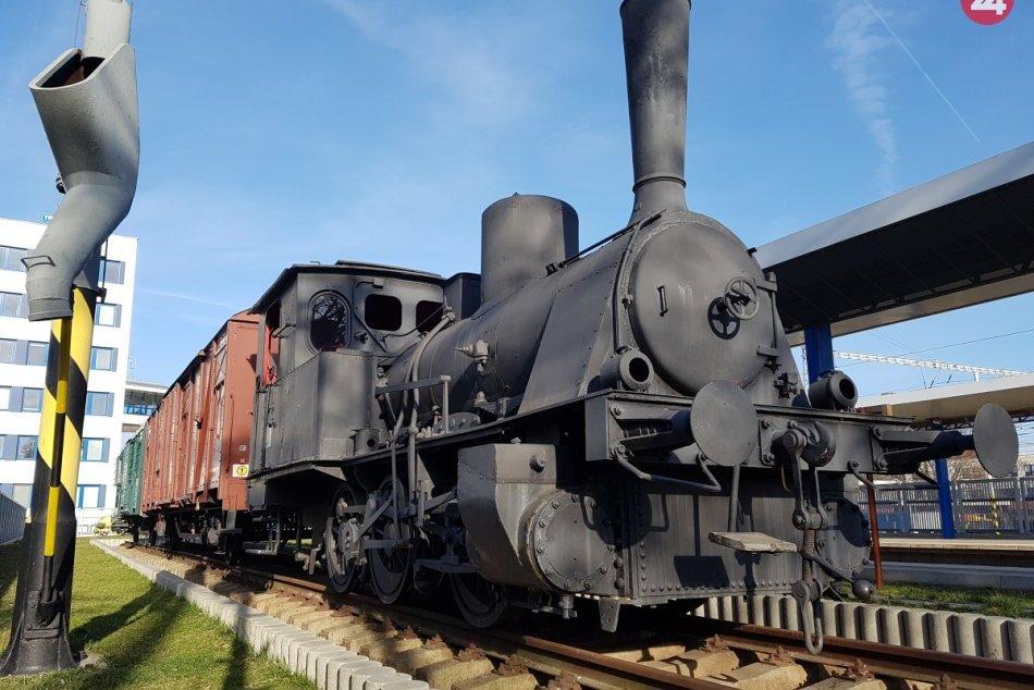 Parná lokomotíva v Trnave