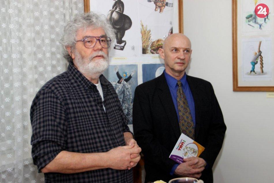 Hlohovčan vystavuje v Bratislave: Karikatúry Františka Bojničana triafajú do čie