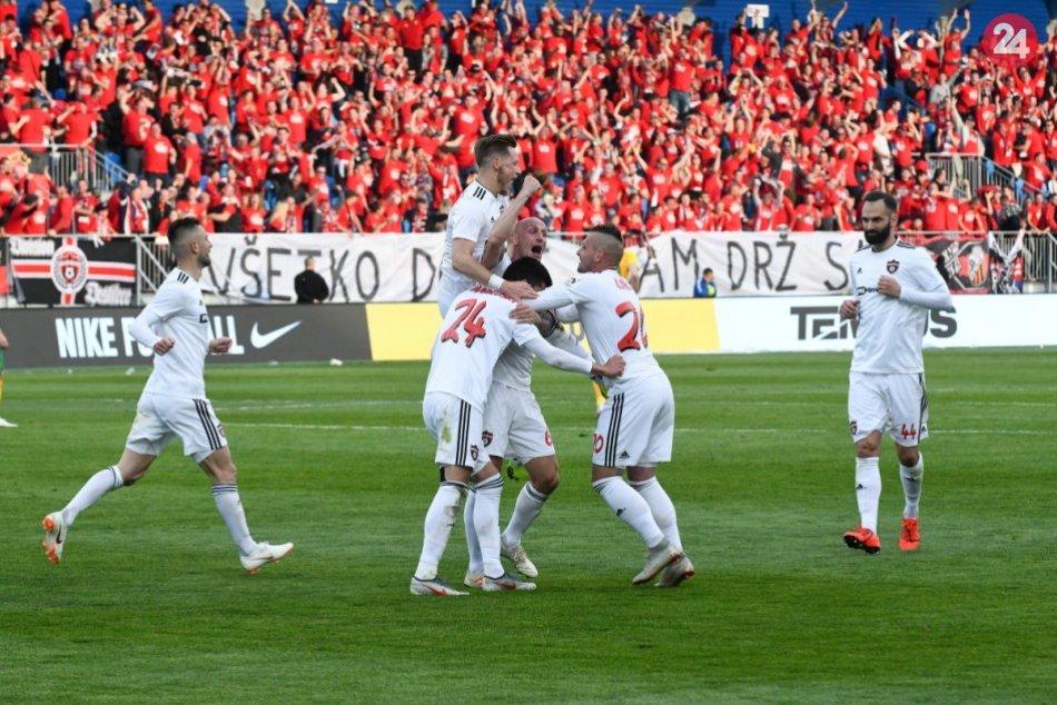 Finále Slovnaft Cup-u medzi Spartakom Trnava a Žilinou