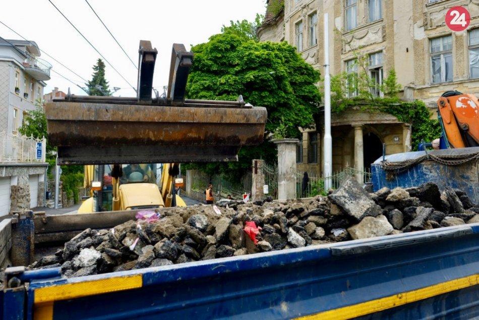 Oprava chodníka na Šulekovej ulici