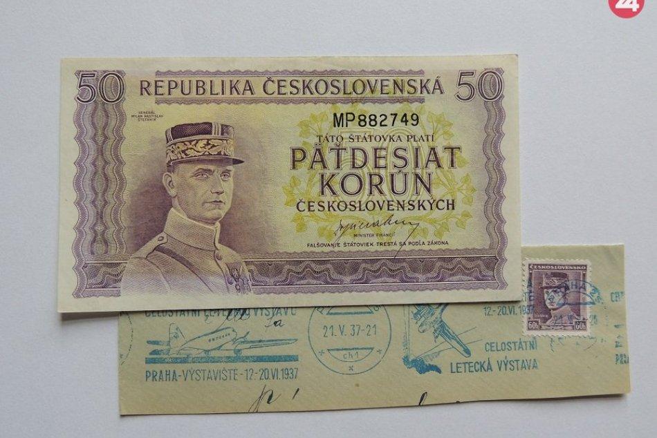 FOTO: Bankovky, na ktorých je tvár M. R. Štefánika