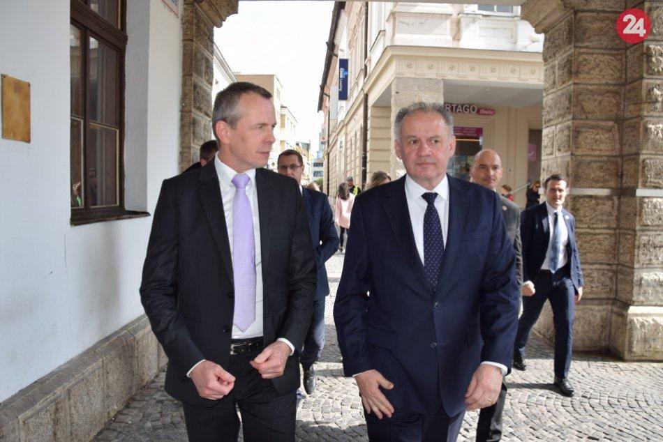 Prezident Kiska navštívil Žilinu