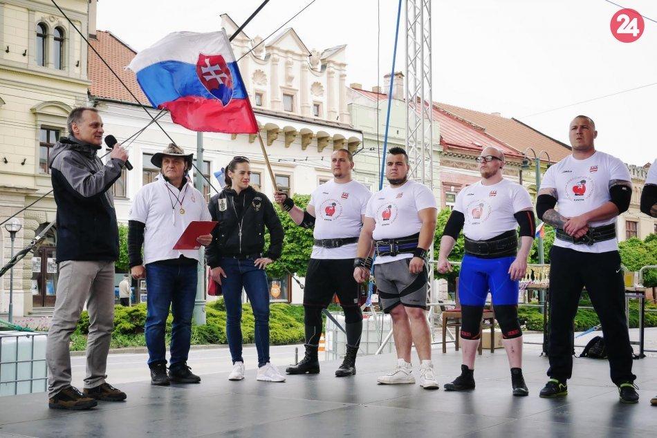 Atraktívne momenty v Prešove: V našom meste sa stretli silní chlapi, FOTO