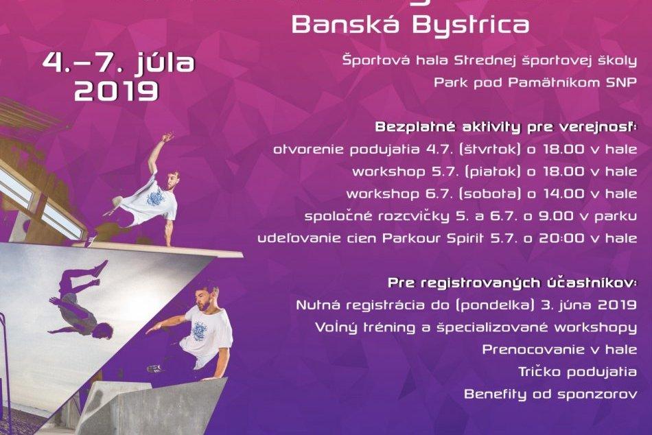 Plagát Parkour Meeting Banská Bystrica 2019