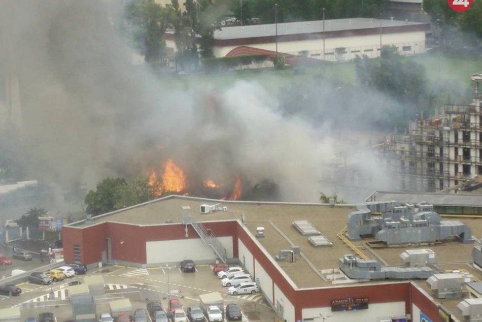 Požiar v Novom Meste
