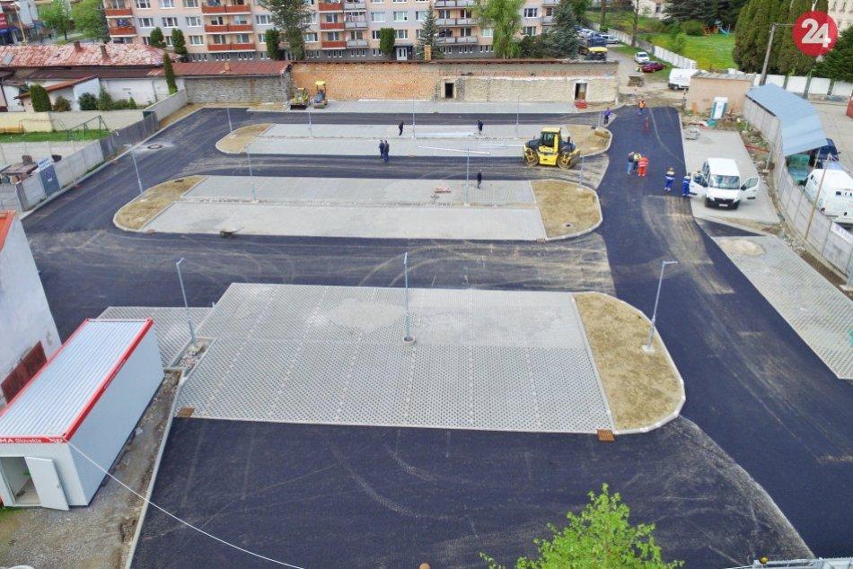Dokončenie nového parkoviska na Ulici ČSA
