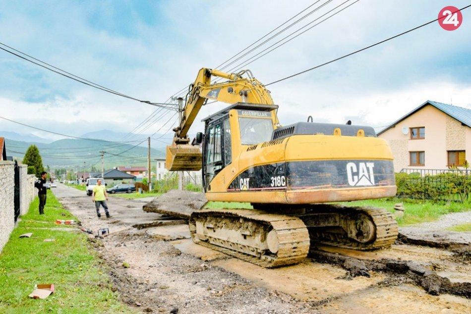 Oprava cesty v Podkoreňovej