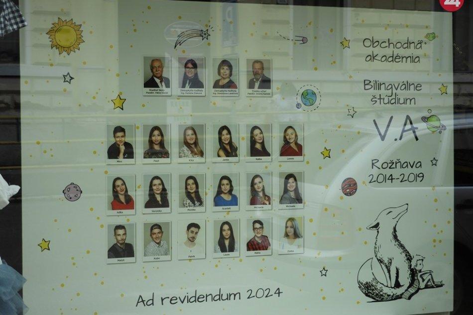 Obrazom: Rožňavské maturitné tablá 2019: Pozrite si ich