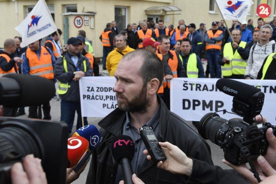 Štrajk zamestnancov DPMP: Pozrite si to zachytené v obrazoch
