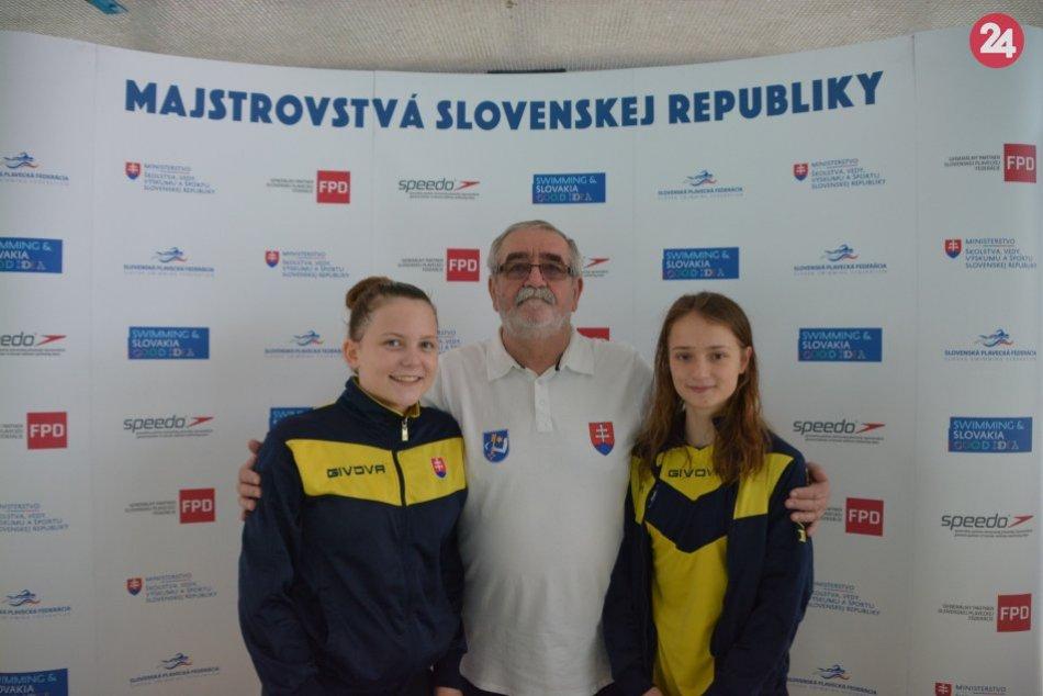 FOTO: Humenské plavkyne Nina a Ema na majstrovstvách SR juniorov
