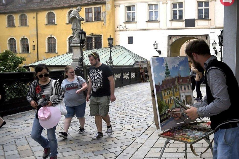 Turisti v Starom Meste