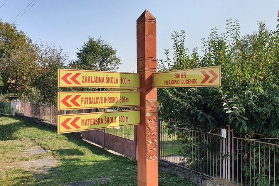 Drevený informačný systém v Buzitke