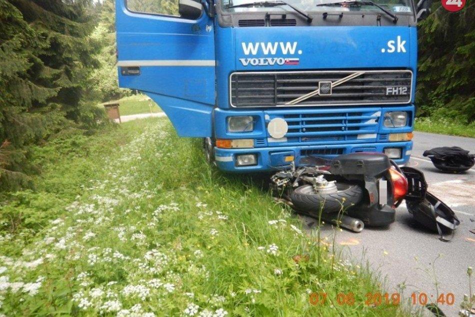 Nehoda motocyklistu pri Sihle