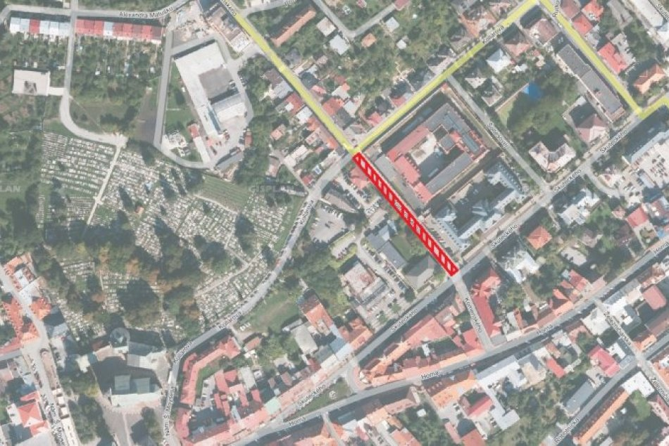 V Bystrici sa pripravte na uzáveru časti Komenského ulice