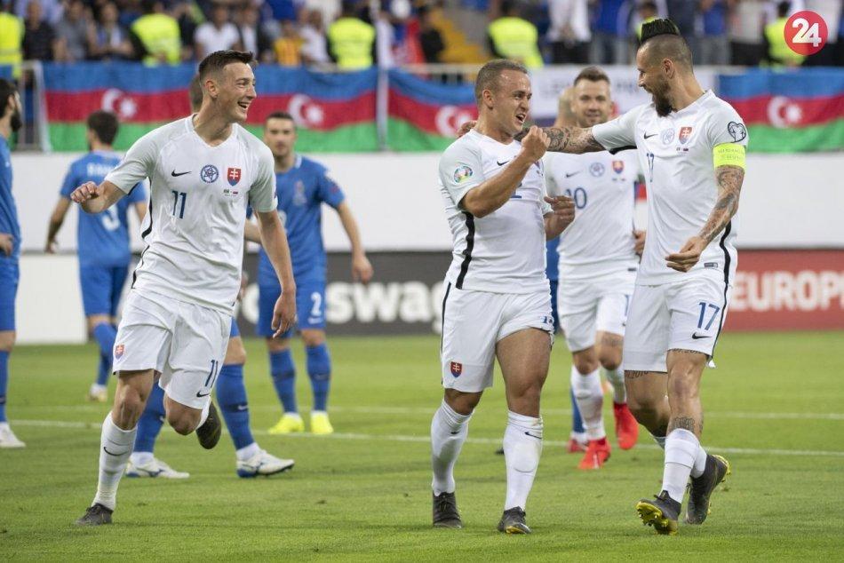 4. kolo kvalifikácie EURO 2020:  Azerbajdžan - Slovensko 1:5 (1:3)