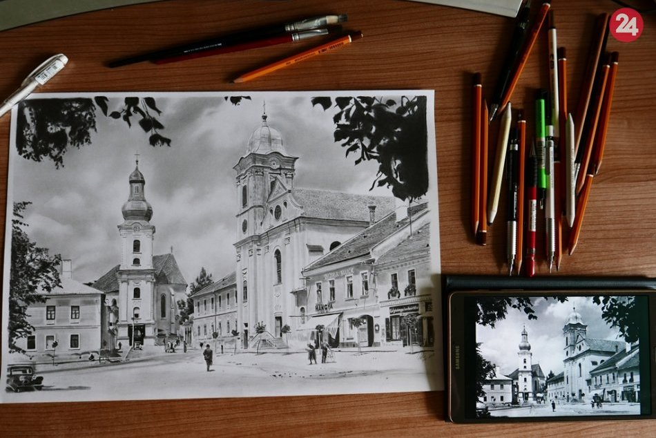Obrazom: Rožňavčan Tomáš vyrukoval s novou kresbou