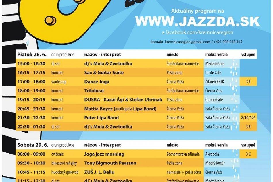 Kremnická jazzda 2019: Kompletný program