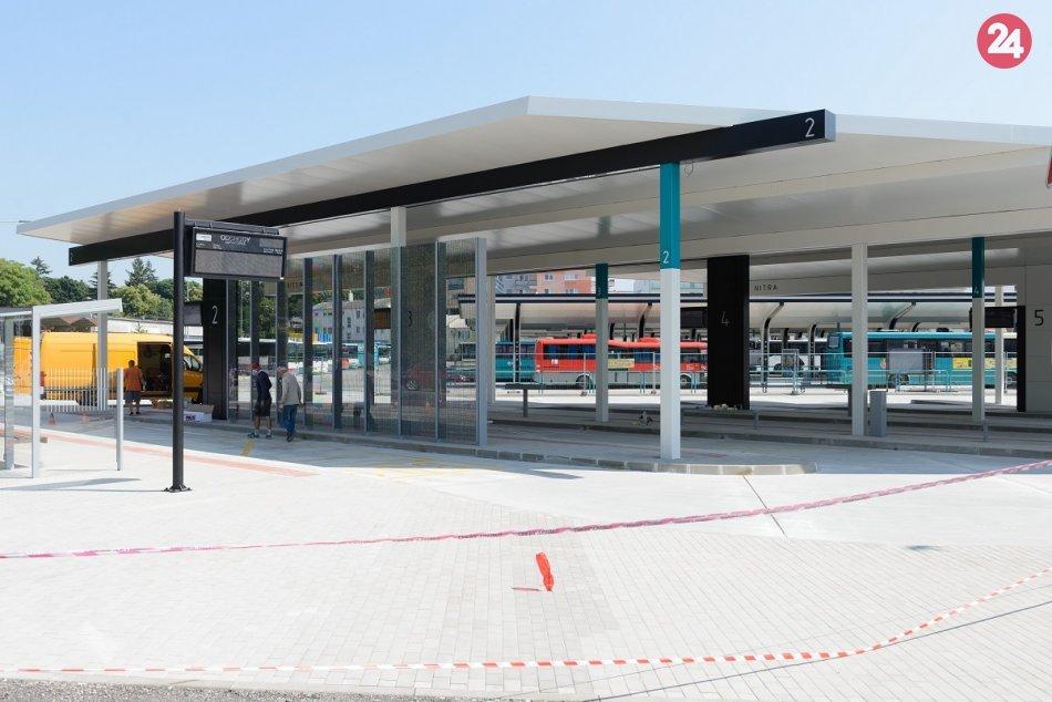 Autobusová stanica v Nitre je takmer hotová: FOTO pred dokončením