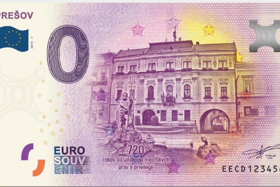 Lákavý suvenír: V metropole Šariša si budete môcť zadovážiť nulovú eurobankovku