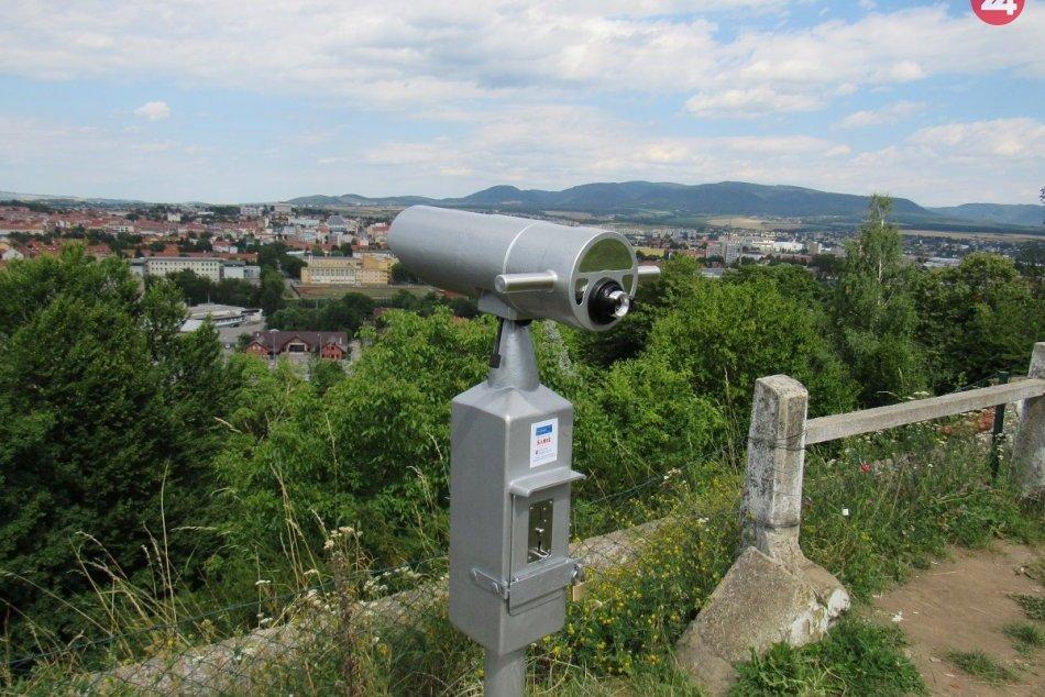 Na obľúbenom mieste v Prešove pribudla novinka: Je ňou vyhliadkový ďalekohľad