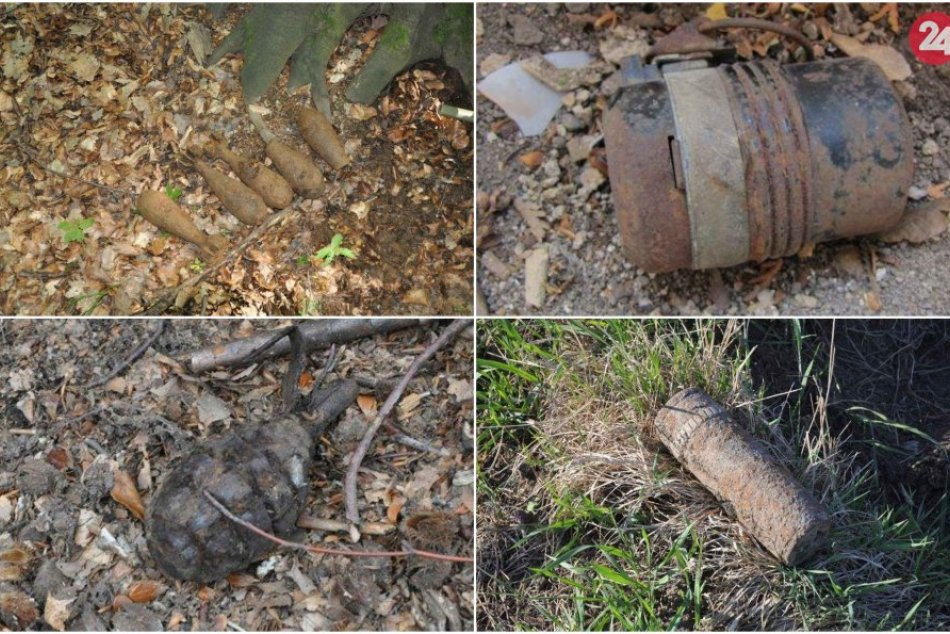 Nájdená vojenská munícia