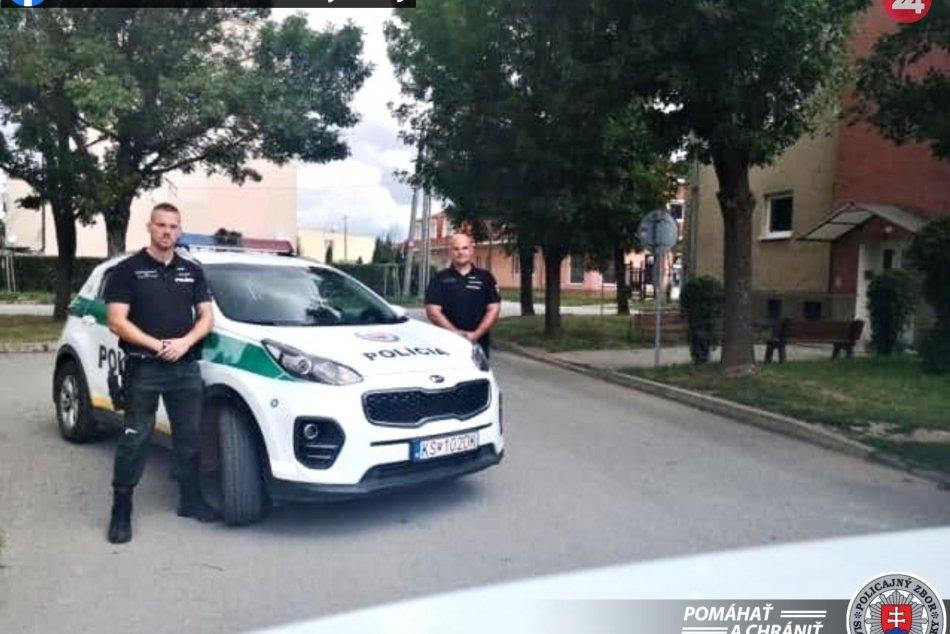 Muži zákona na východe Slovenska zachránili muža. Ako alergika ho napadli osy.