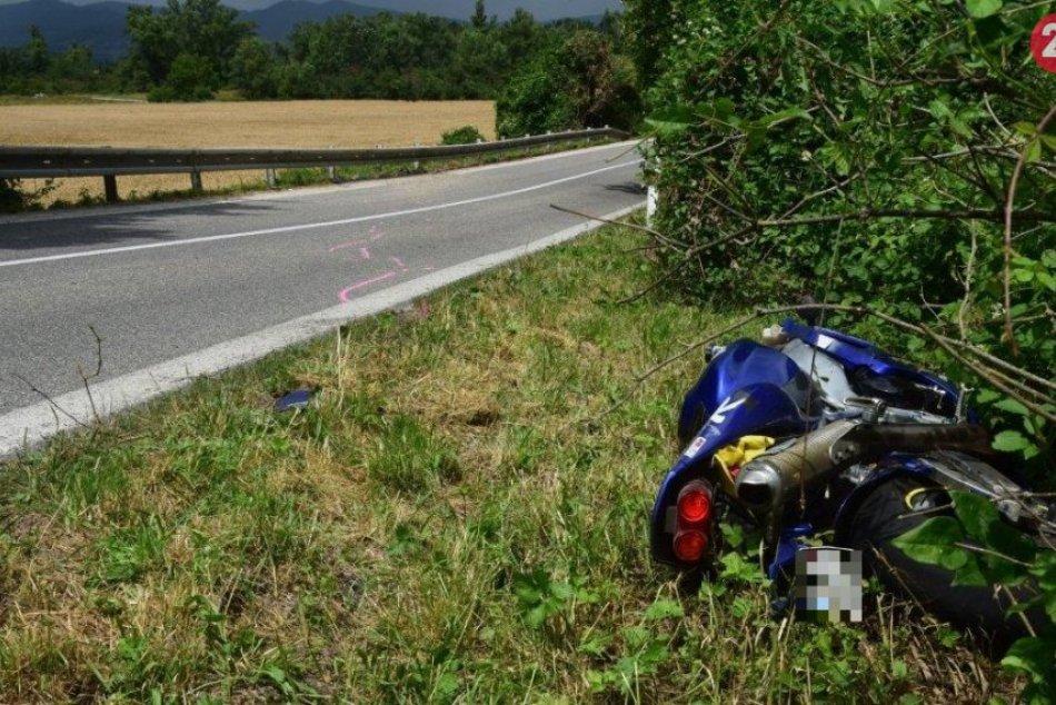 Tragická dopravná nehoda, pri ktorej zomrel motocyklista z Trenčianskeho okresu