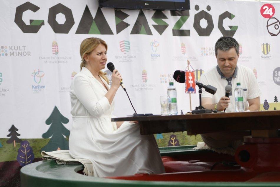 Obrazom: Prezidentka Čaputová na tábore v Gombaseku