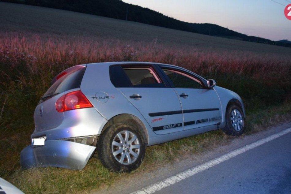 FOTO: Miloš dostal auto v protismere do priekopy a nafúkal 3,23 promile alkoholu