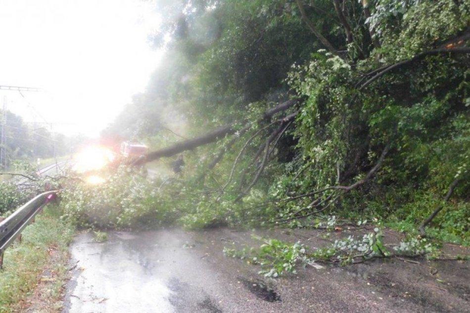 V OBRAZOCH: Zrážka vlaku so spadnutým stromom neďaleko Zvolena