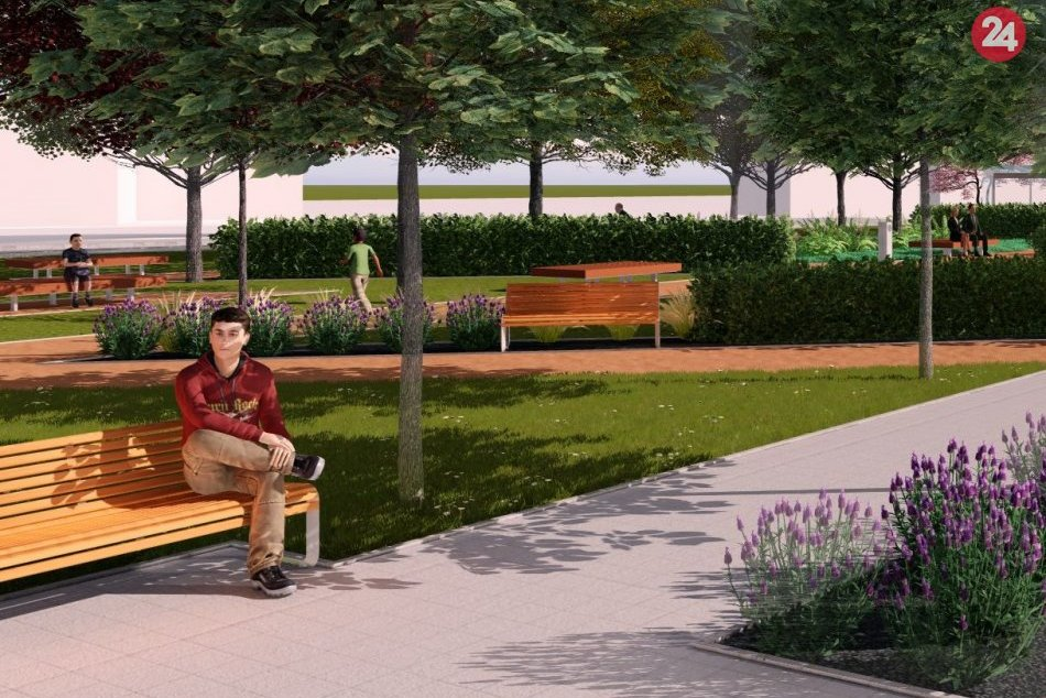 Trenčiansky park Úspech čaká revitalizácia: Pozrite si jeho VIZUALIZÁCIE