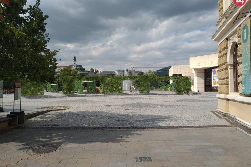 Vizualizácie zmien na nitrianskom námestí a pešej zóne
