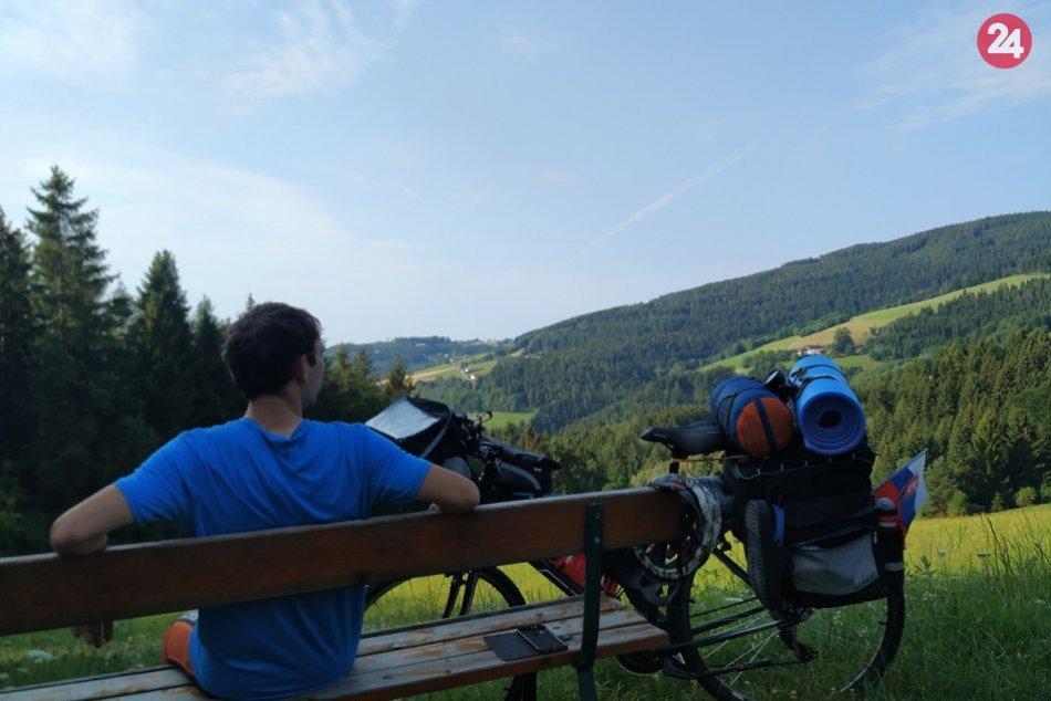 Z Prečína až do Talianska na bicykli: FOTO Romana Šaradína z dobrodružstva