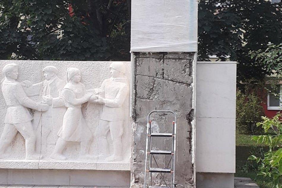 Pamätník na Dolnej ulici reštaurujú: Mesto Šaľa zaplatí vyše 12-tisíc eur, FOTO