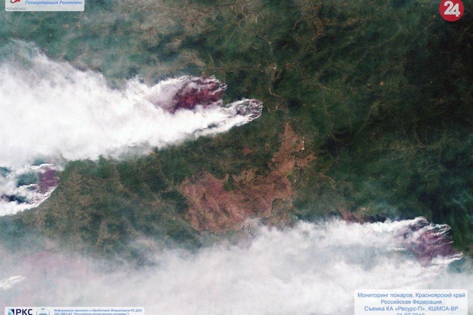 Na Sibíri horí obrovská plocha lesa