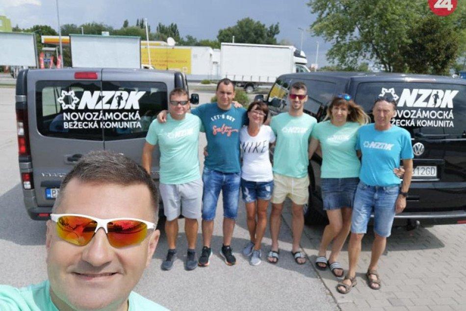 Novozámocká bežecká komunita na pretekoch Od Tatier k Dunaju