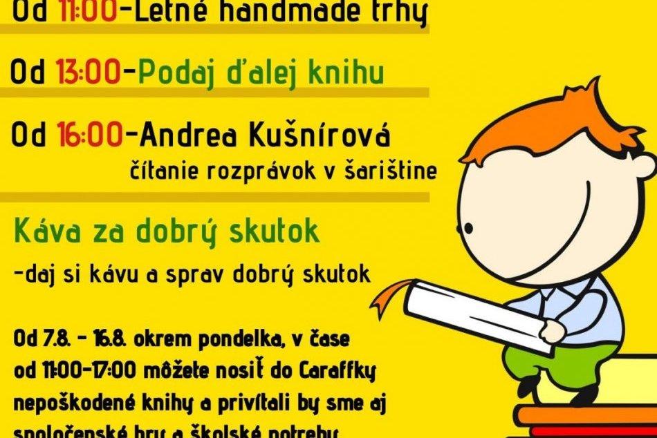 V Prešove sa chystá akcia Podaj ďalej knihu i handmade trhy, FOTO