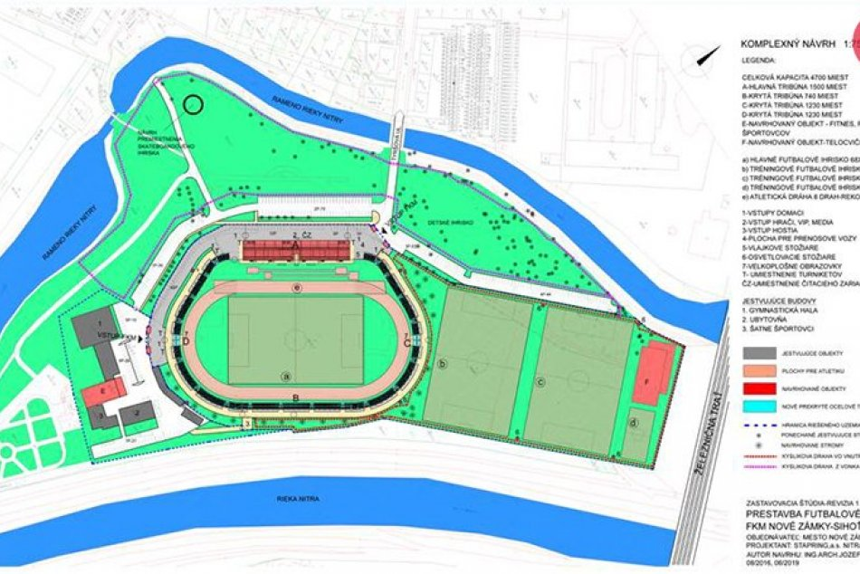 Vizualizácia návrhu revitalizácie štadióna na Sihoti