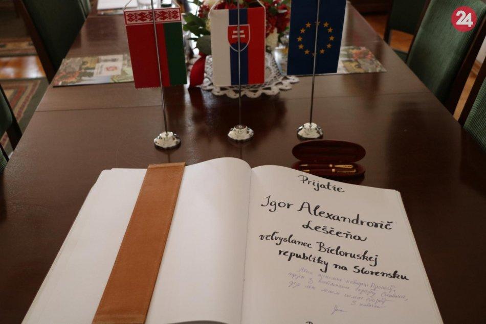 Fotoobjektívom: Prešov navštívil veľvyslanec Bieloruskej republiky