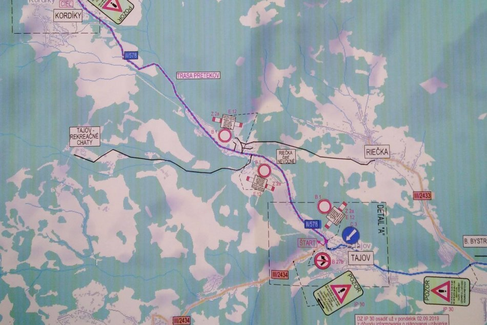 Obmedzenie v doprave pre obec Kordíky