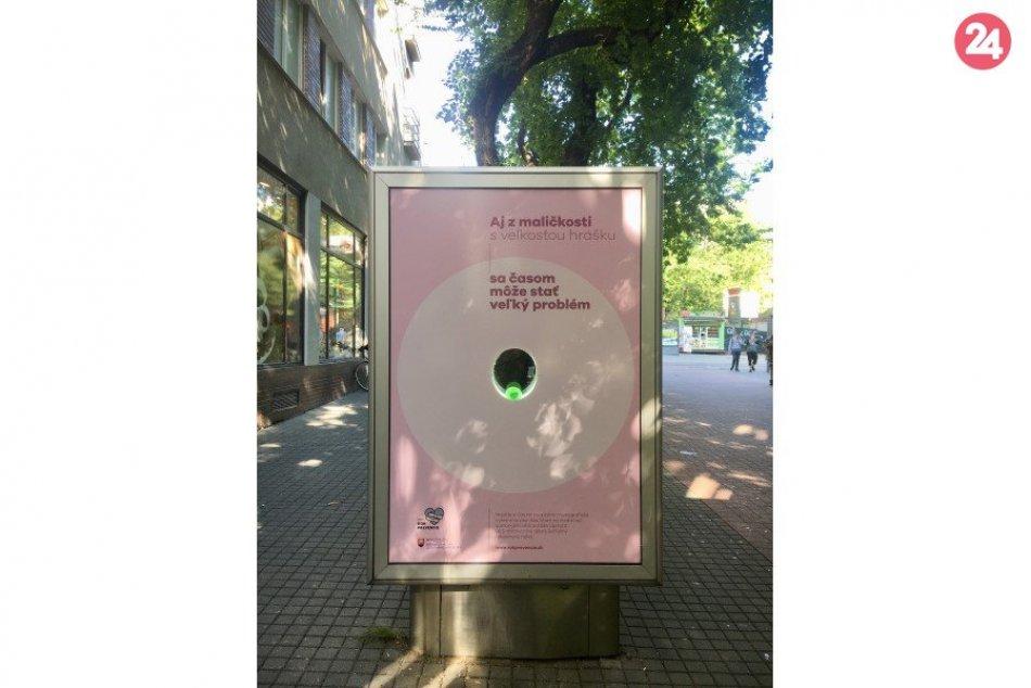Unikátny citylight: Ženám pripomína dôležitosť mamografického vyšetrenia