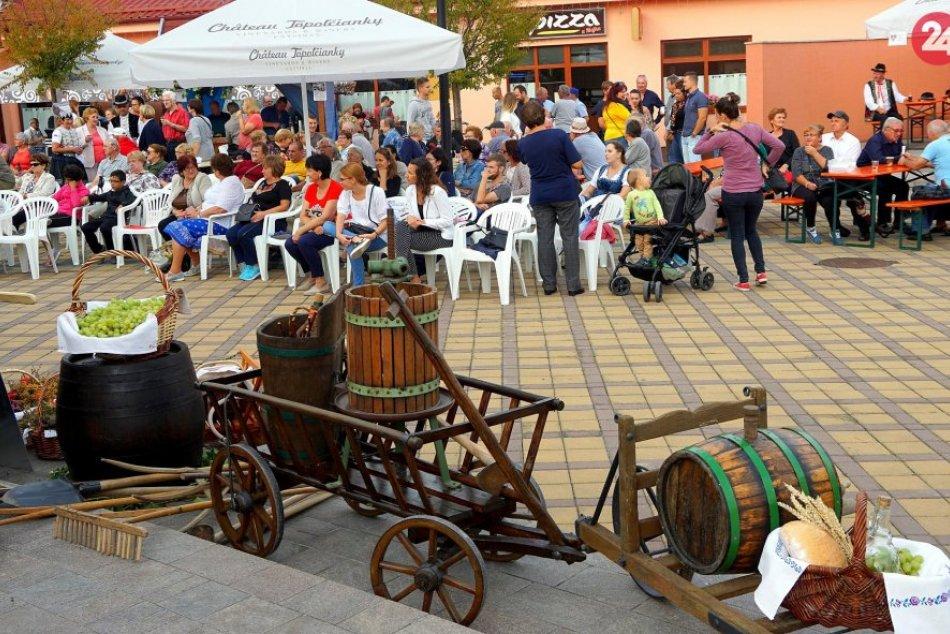 Vinobranie a folklórne slávnosti v Topoľčiankach: Zábava zachytená na ZÁBEROCH