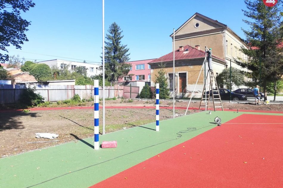 V OBRAZOCH: Športový areál na dvore Technickej akadémie je už pred dokončením