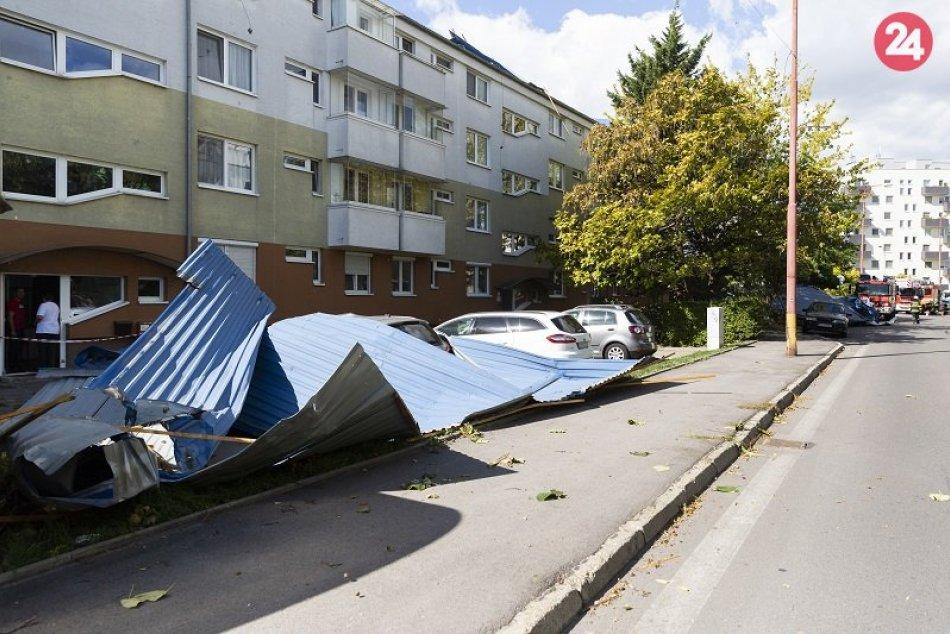 Vyčíňanie vetra v Bratislave