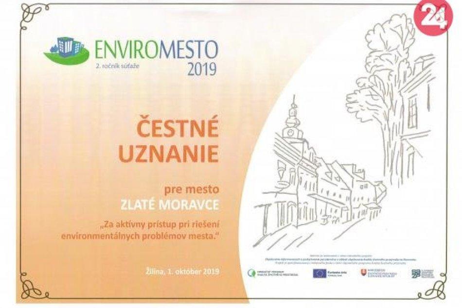 Čestné uznanie za aktívny prístup pri riešení enviromentálnych problémov mesta.