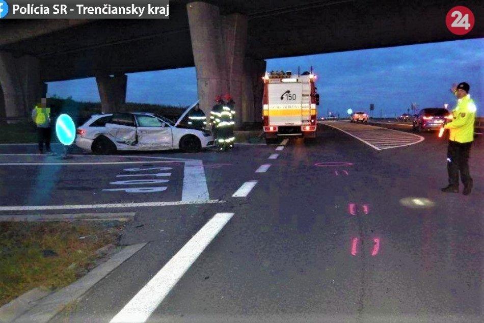 FOTO z miesta nehody na výpadovke z Považskej Bystrice