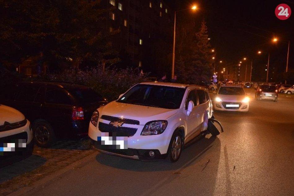 V Prešove žena viedla vozidlo, narazila do iného auta a nafúkala