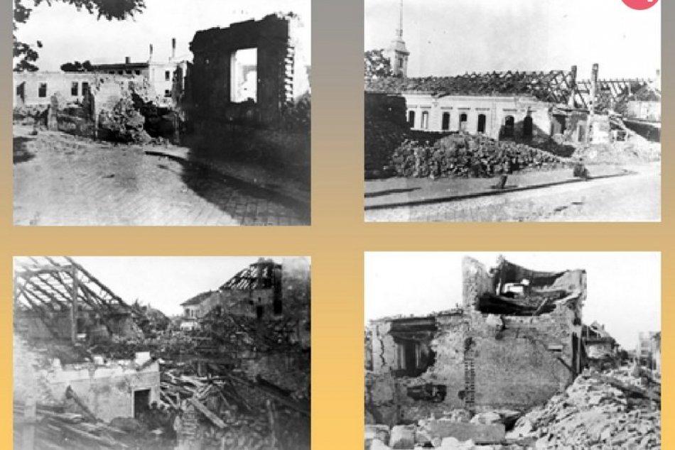 Nové Zámky po vojnovom bombardovaní